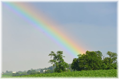 Rainbow over western Lancaster County 9/2/14 (Photo by Doris High)