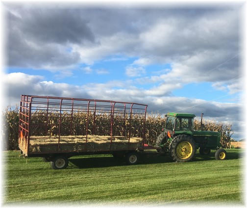 Rutt hay wagon for Mennonite Youth Group 9/30/17