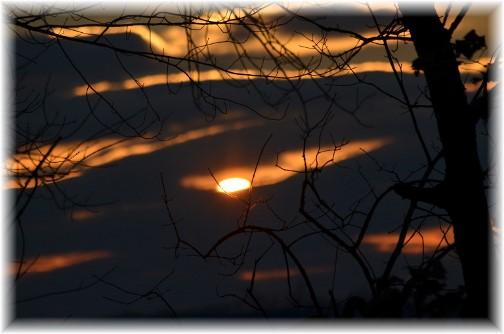 Early morning sun through clouds (Doris High)