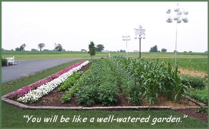 Garden on Stumptown Road in Lancaster County PA