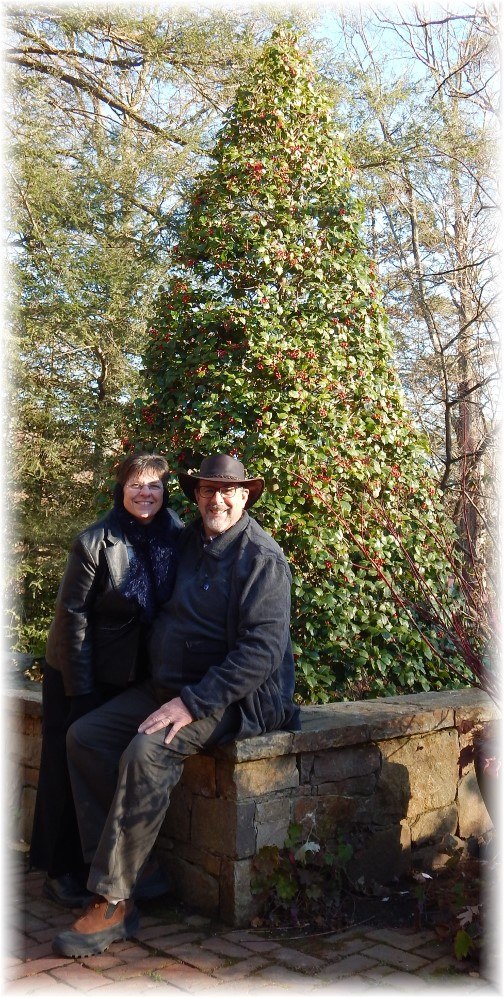 Photo of us at Longwood Gardens 12/19/14