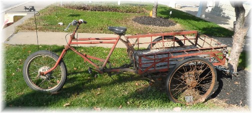"""Bike with """"truck bed"""" (photo taken in Intercourse, PA 10/25/13)"""