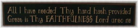 Faithfulness plaque
