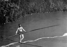 Tightrope walker at Niagara Falls