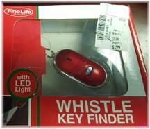 Whistle key finder
