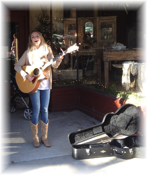 Budding country singer in Franklin Tennessee 11/28/14