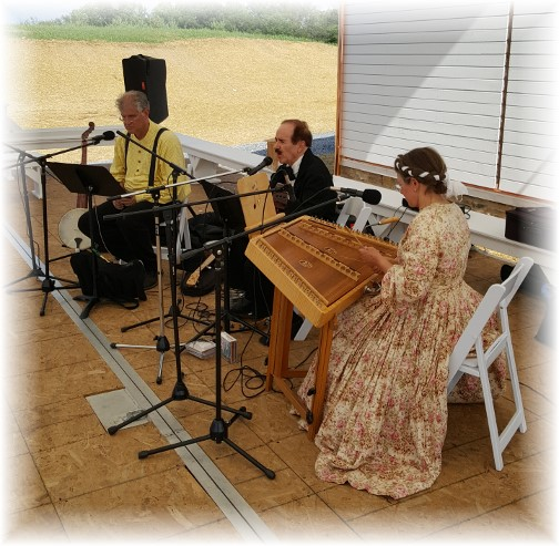 Civil War band at Star Barn raising event 7/3/17