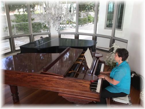 Brooksyne playing Steinway piano 10/16/16