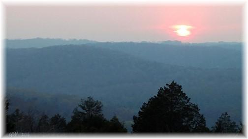 Ozark sunset near Branson MO (Photo by cousin Georgia)