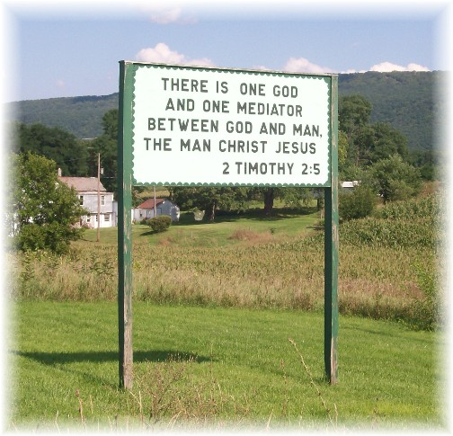 Scripture witness signs in the Big Valley