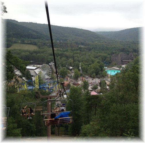 Sky ride at Knoebels Park Elysburg, PA 8/10/15