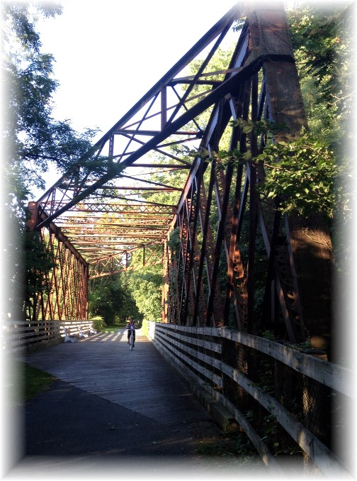 Lebanon Valley Rail trail bridge at Cornwall