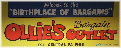 Ollies sign at Harrisburg airport 10/25/16