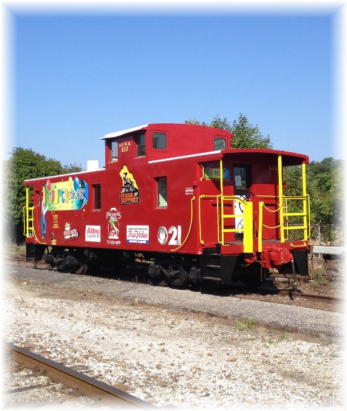 Party caboose on York Heritage Rail Trail 9/8/15