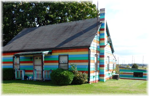 Striped house