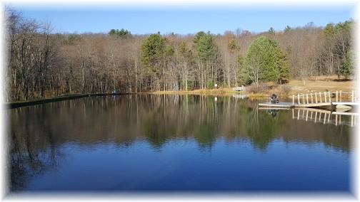 Pocono lake at Twin Pines Camp 11/19/16 (Click to enlarge)