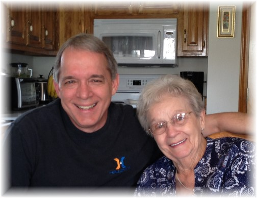 Dave Simpson and his mother 6/27/15