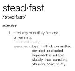 Steadfast definition