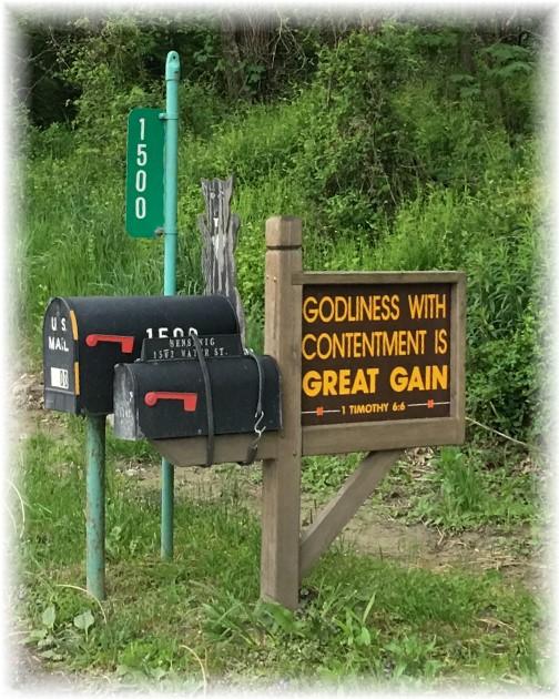 Sign near Columbia PA 4/30/16