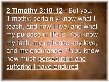 2 Timothy 3:10-12