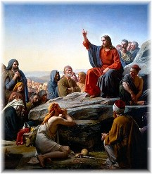 Christ teaching at the Sermon on the Mount