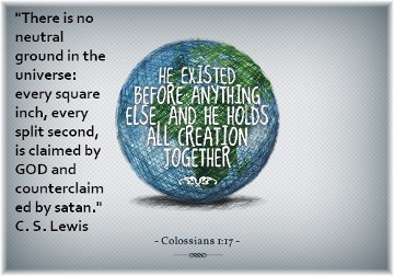 Colossians 1:17 with CS Lewis quote