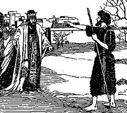 Elijah before King Ahab