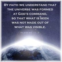 Hebrews 11:3