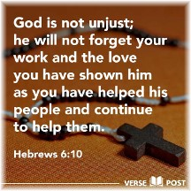 Hebrews 6:10