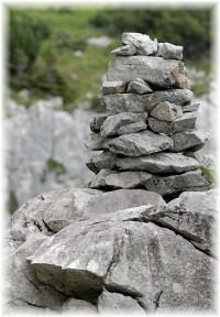 Memorial stone pile