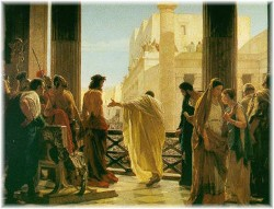 Pilate, pleasing the crowd