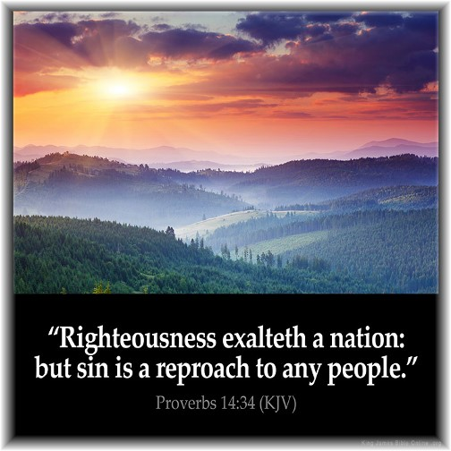Proverbs 14:34