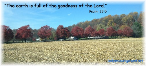 Psalm 33:5 with Lancaster County rural scene 11/8/14 (Click  for larger view)
