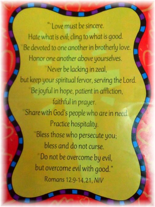 Romans 12 Sunday School poster