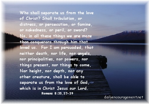 Mountain scene with Scripture