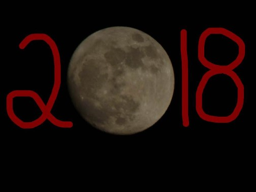 New Year's moon 12/31/17 (Photo by Ester)
