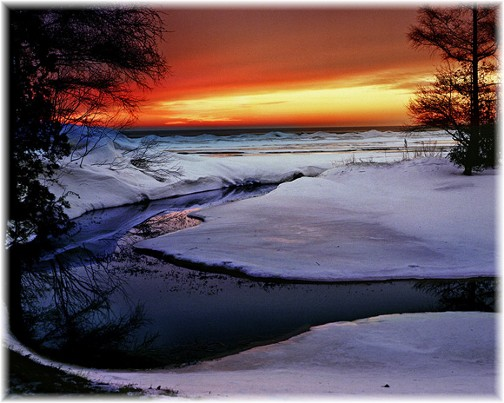 Sunrise over Lake Huron (Photo by Howard Blichfeldt)