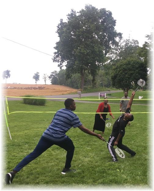 Badminton game 5/29/17