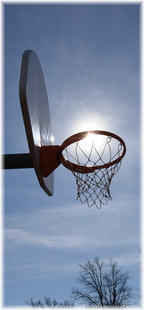 Basketball goal in sun (Photo by Shawn Sauerwine)