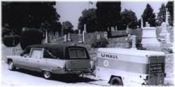 Hearse with U-haul