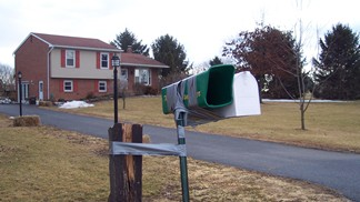 Duct tape mailbox