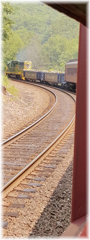 Train going up Lehigh Gorge 7/22/17