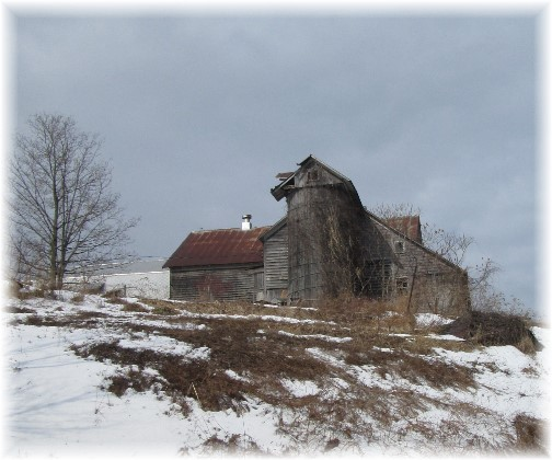 Old barn and silo in northern New York