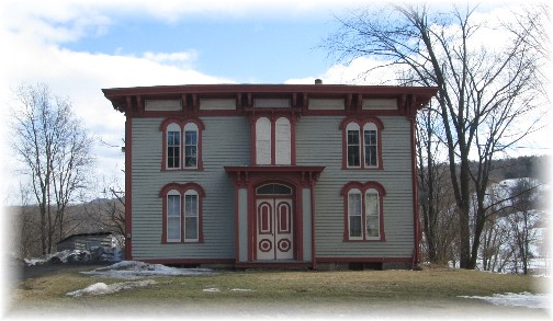 Frame farmhouse in north central New York