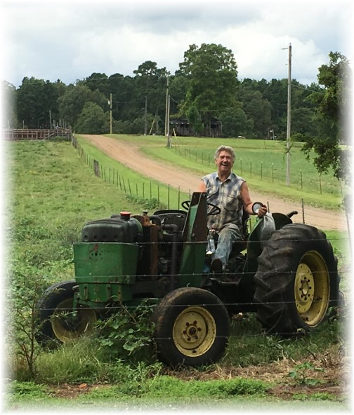 Uncle Carroll on tractor 8/7/17