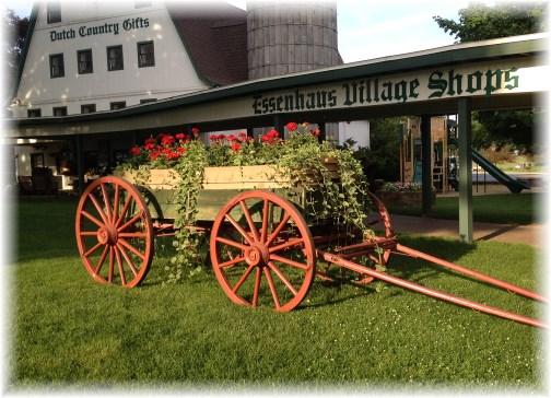 Essenhaus flower wagon