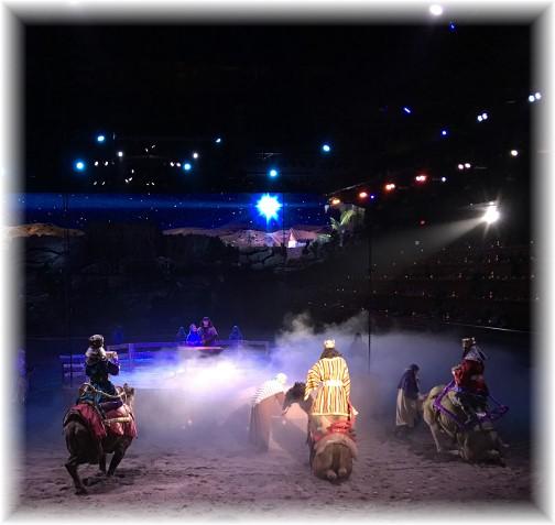 Manger scene, Dixie Stampede, Pigeon Forge, TN 11/22/16