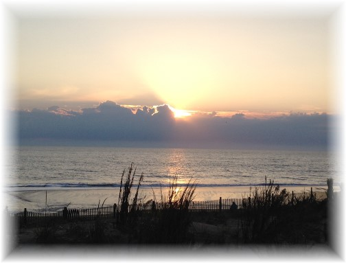 Sunrise over Atlantic Ocean Rehoboth Beach DE 10/9/15