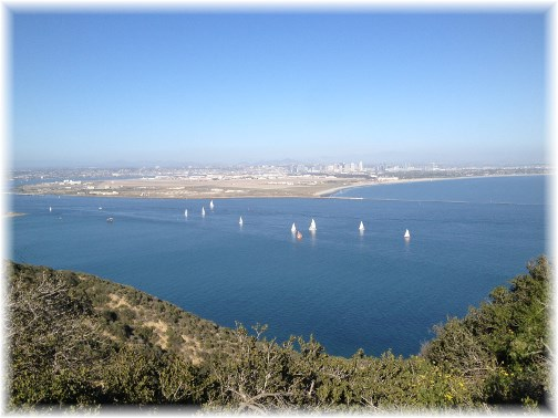San Diego Bay with distant skyline
