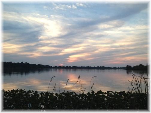 Shipshewana lake at sunset